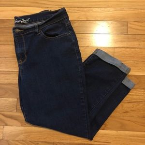 Old Navy Sweetheart Cuffed Denim Capris